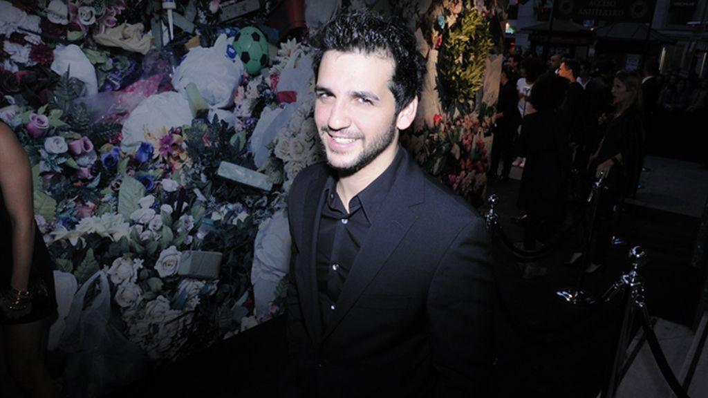 Fran Perea a su llegada al cine Callao