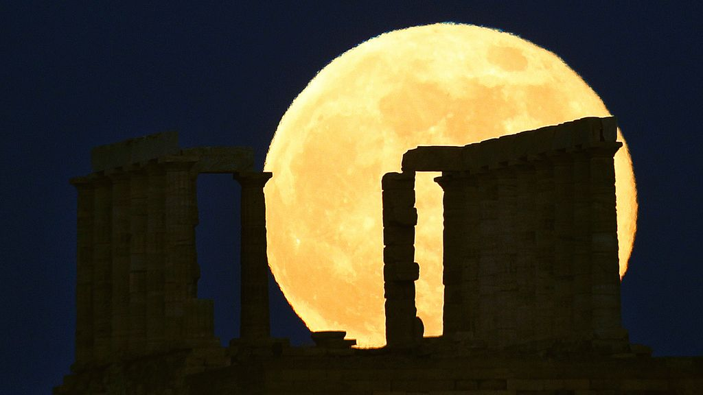 'Superluna' en Grecia
