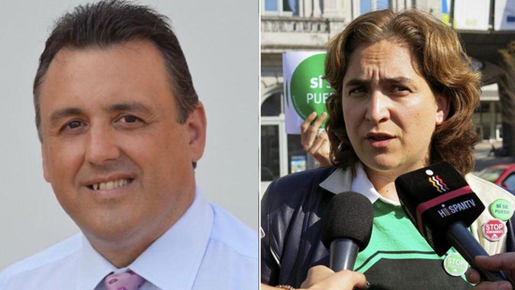 Óscar Bermán y Ada Colau