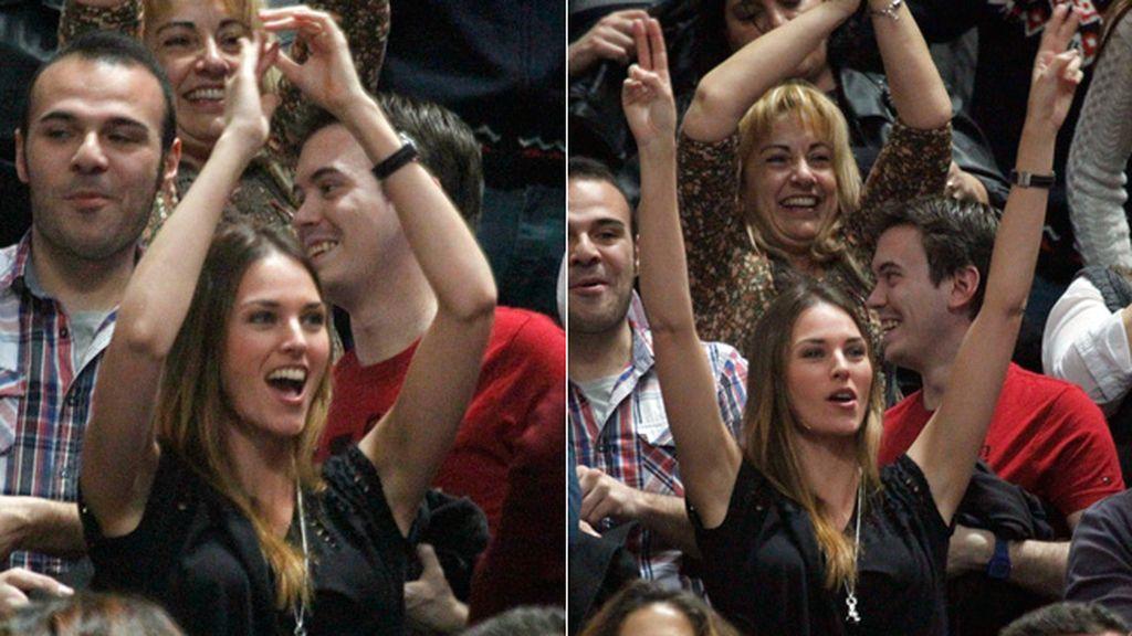 En la prórroga, una exaltada Helen Lindes disfrutó de la victoria del equipo de Rudy
