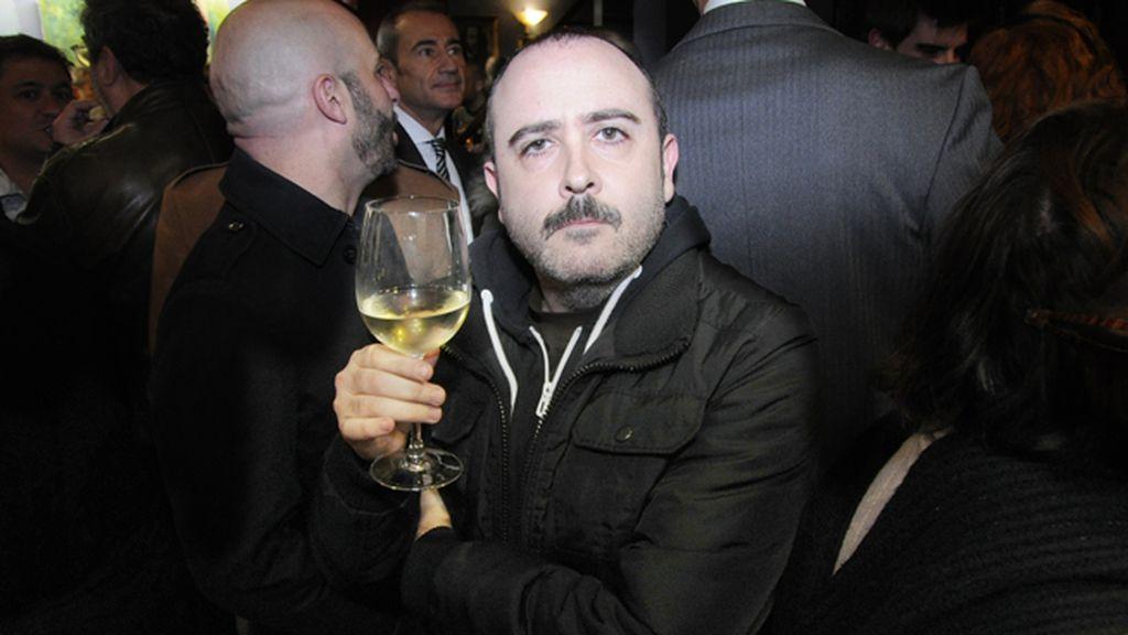 """Carlos Areces disfrutando de una noche de teatro tras el tremendo éxito de taquilla de """"Los amantes pasajeros"""""""