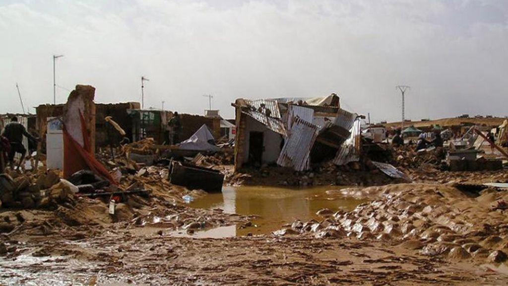 Lluvias torrenciales en el Sahara