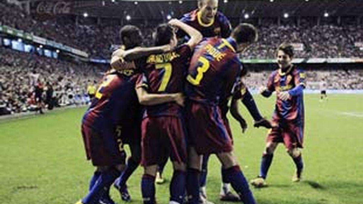 Iniesta, Xavi y Messi juegan ante el Depor antes de saber quién se lleva el Balón de Oro. Foto: Gtres