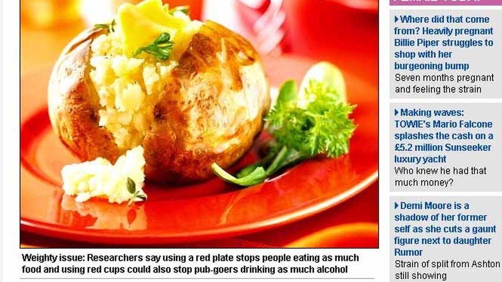Comer en plato rojo ayuda a perder peso