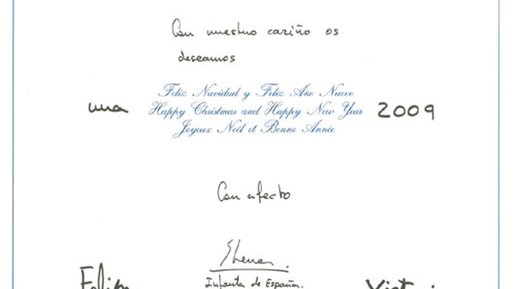 Felicitación de la Infanta Elena