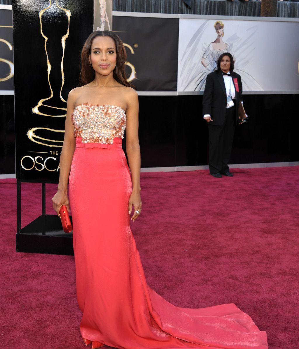 La actriz Kerry Washington, en la alfombra roja de los Oscar