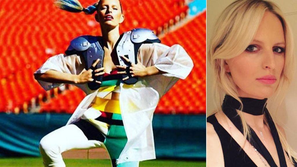 Karolina Kurkova ha recordado su posado ' Super Bowl' para Vogue México