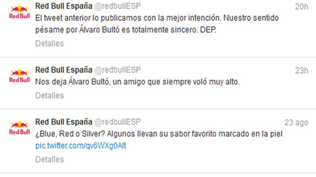 RedBull se disculpa por su polémico tweet sobre Álvaro Bultó