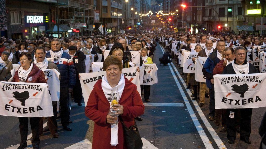 Marcha por Bilbao en favor de los presos de ETA.