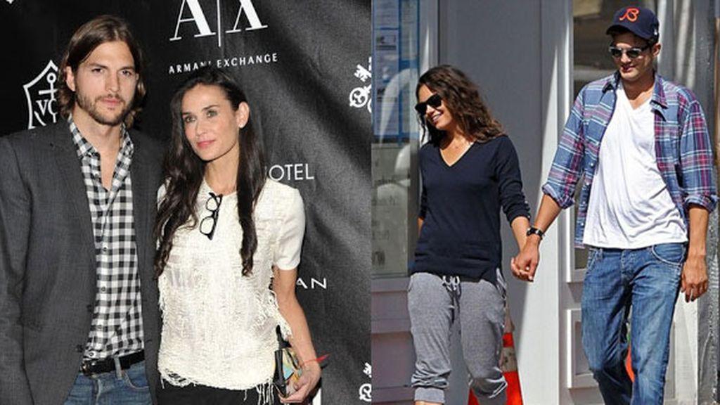 Ashton Kutcher rompe con Demi Moore y comienza su relación con Mila Kunis