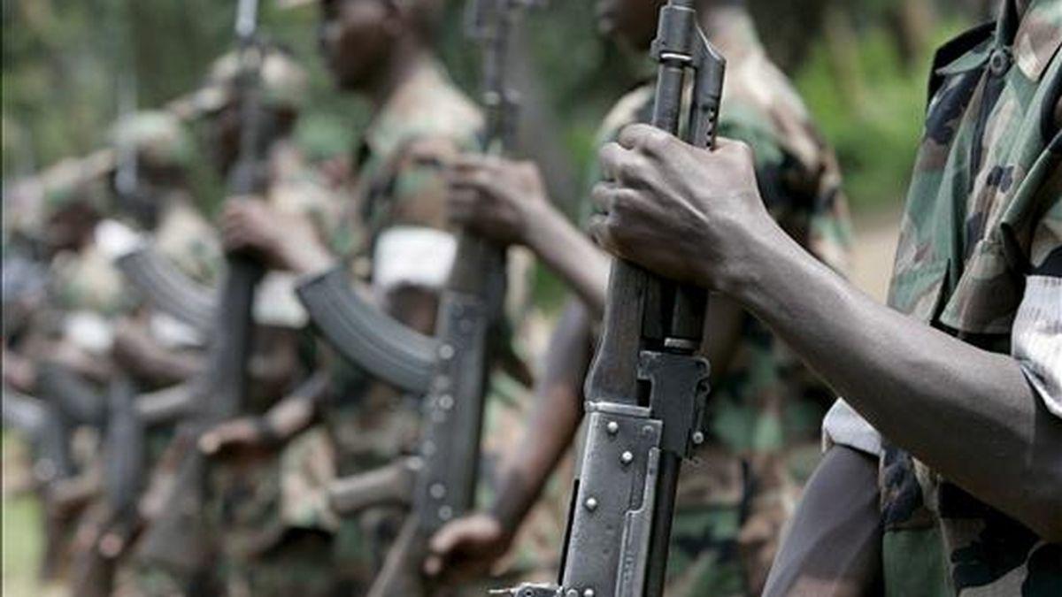 Soldados rebeldes en la República Demócratrica del Congo. EFE/Archivo