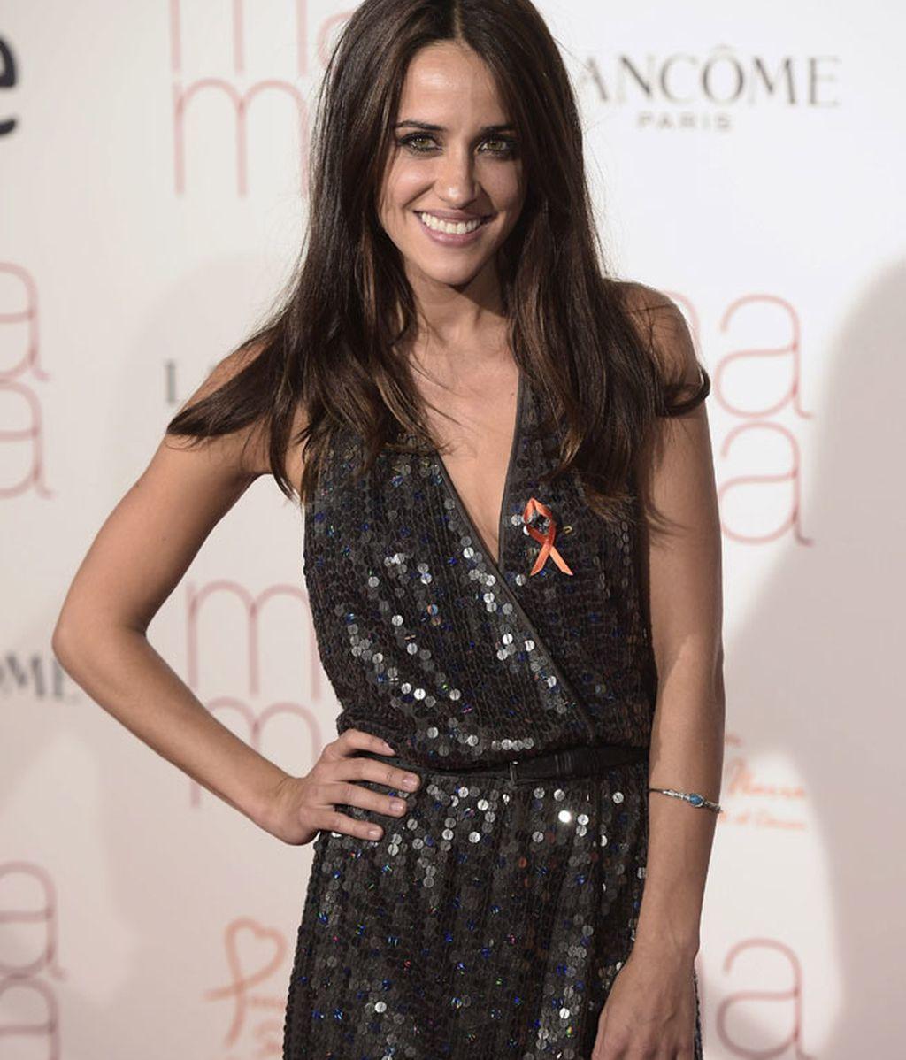 Macarena García, con un mini vestido de lentejuelas