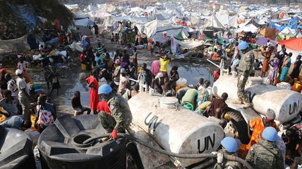 Campamento de la ONU en Sudán del Sur