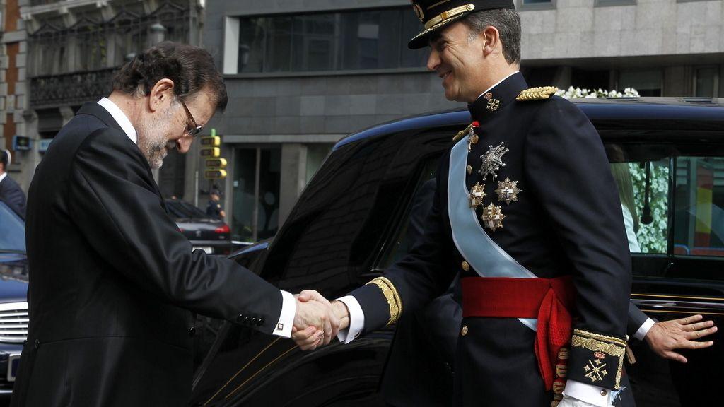 Felipe VI llega al Congreso de los Diputados