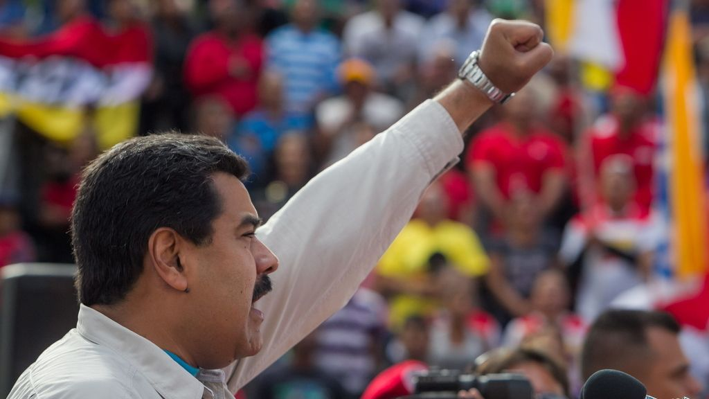 El presidente venezolano Nicolás Maduro participa en una marcha de apoyo a su gestiójn en Venezuela