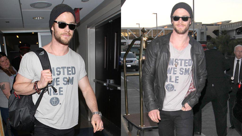 Chris Hemsworth en Los Ángeles, siguiendo el protocolo