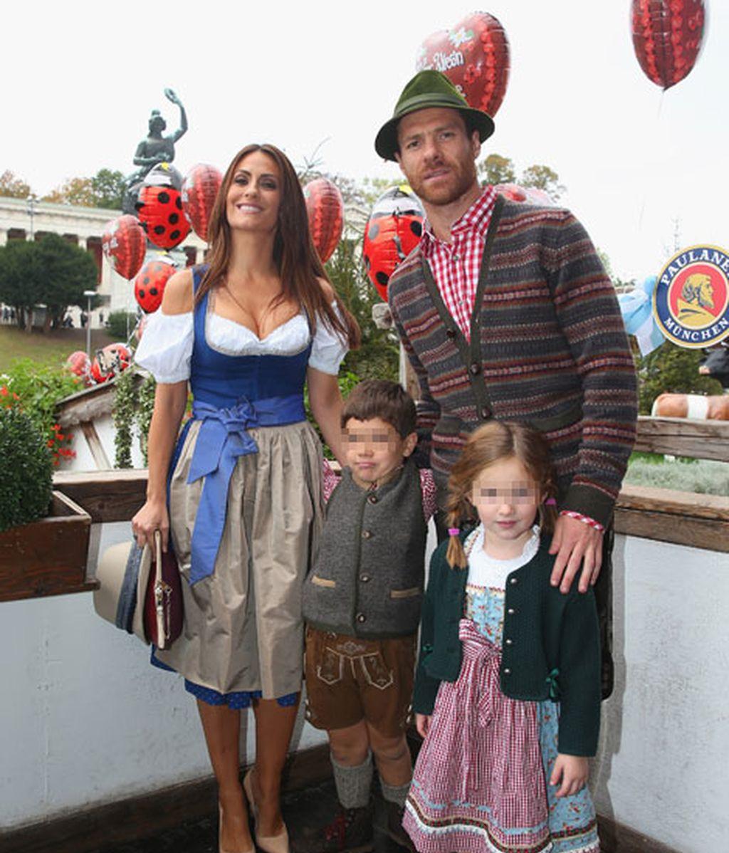 Jon y Ane, los hijos de Xabi y Nagore, parecen estar adaptados a su vida en Múnich