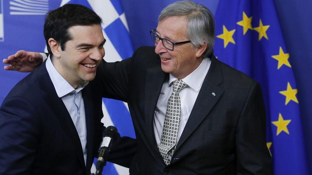 Alexis Tsipras y Jean Claude Juncker
