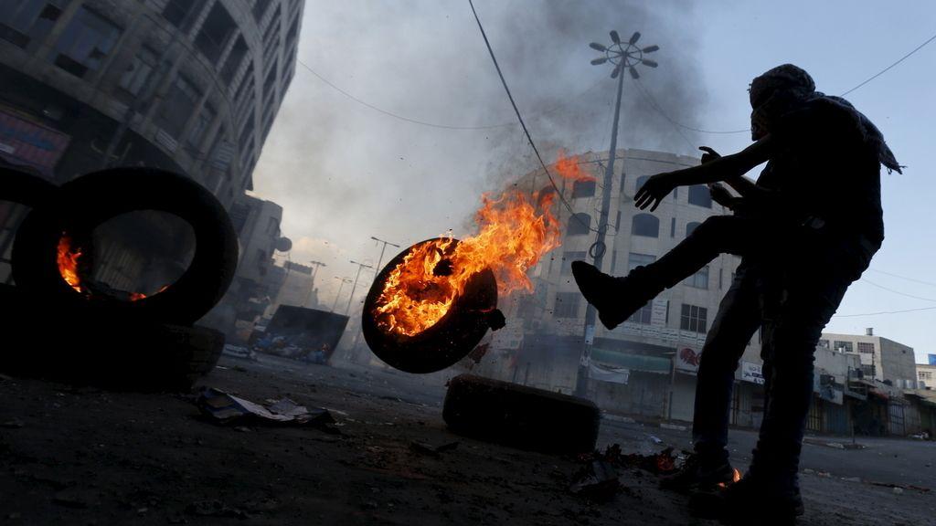 Al menos seis palestinos resultaron heridos  durante unas protestas