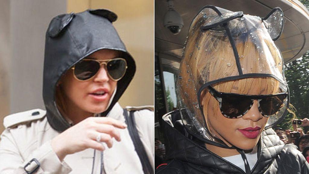 Lindsay Lohan y Rihanna de ositos