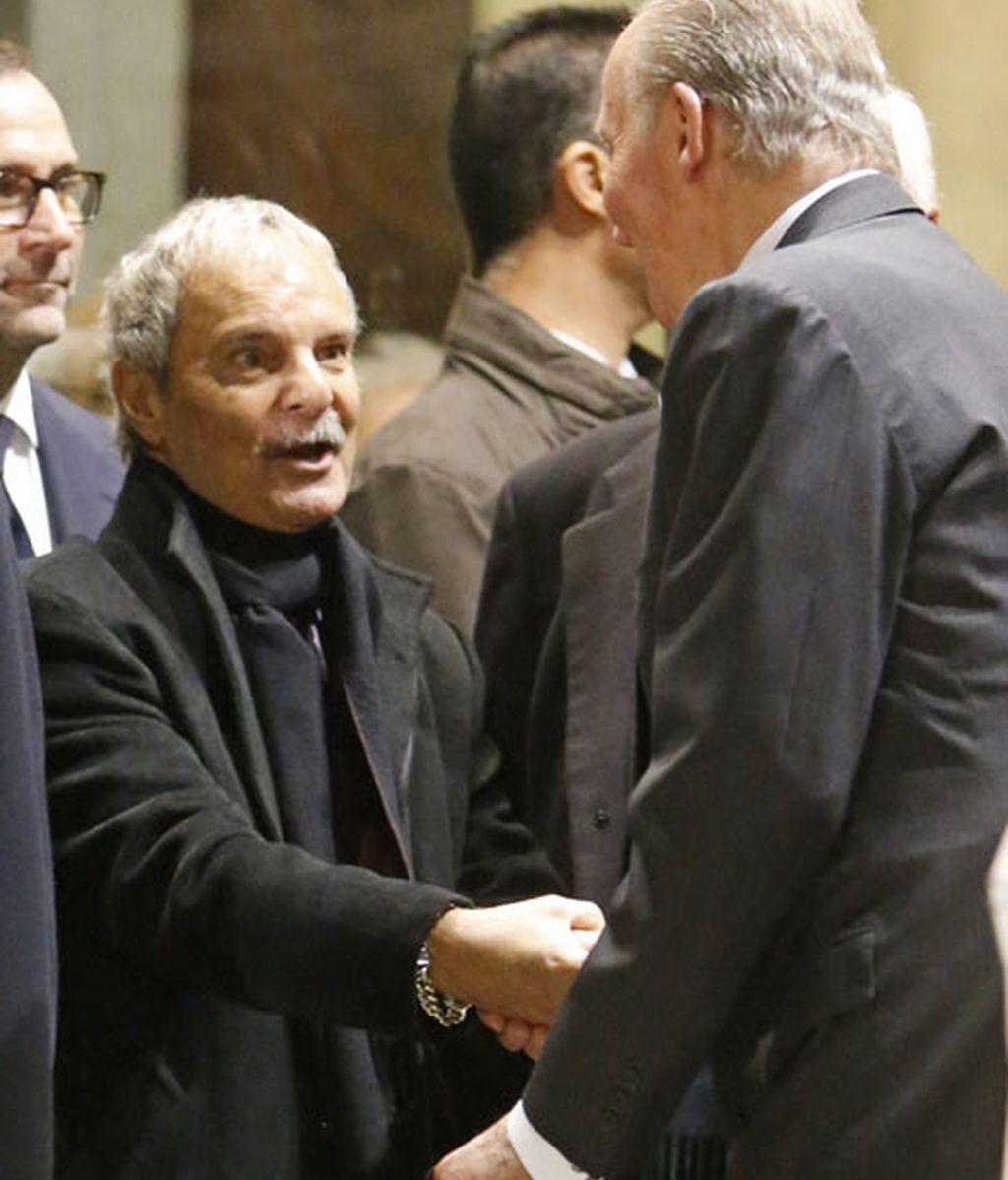 Jesús Mariñas saludó al rey Juan Carlos