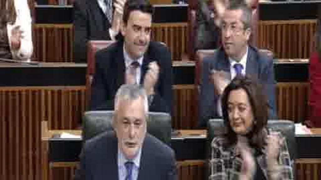 Tensión en el parlamento andaluz