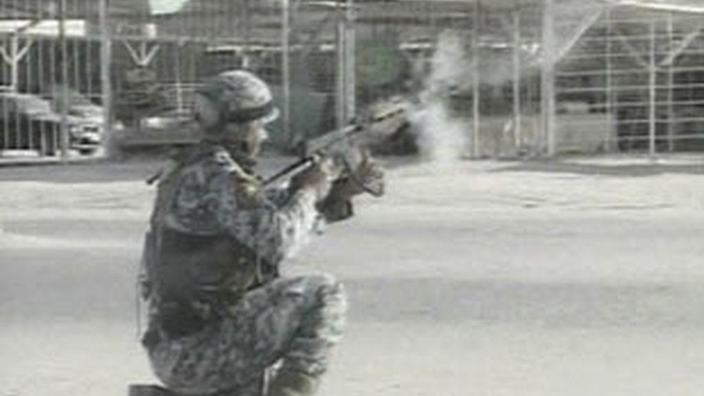Soldado británico en Basora. Foto: Archivo
