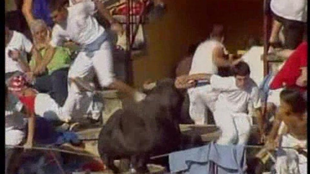 Susto en Tafalla por un toro