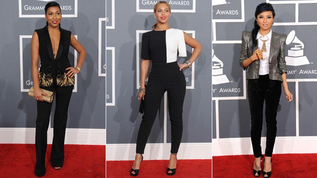 El pantalón también triunfó en la 'red carpet': Beyoncé, Jeannie Mai y Melani Fiona