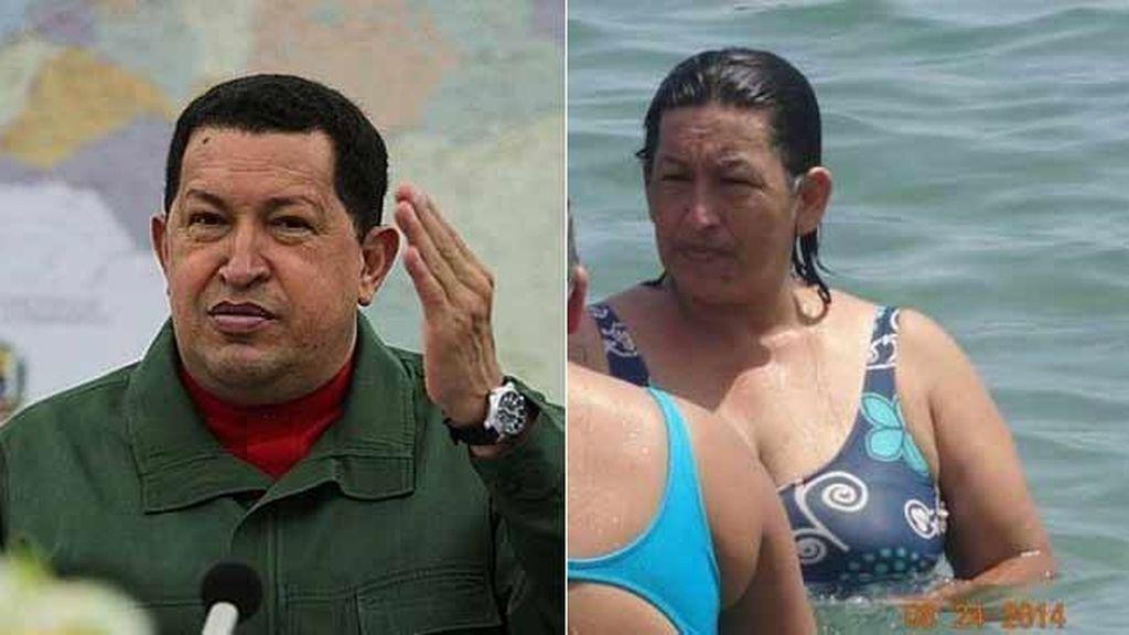 Una mujer 'idéntica' a Chávez revoluciona las redes sociales