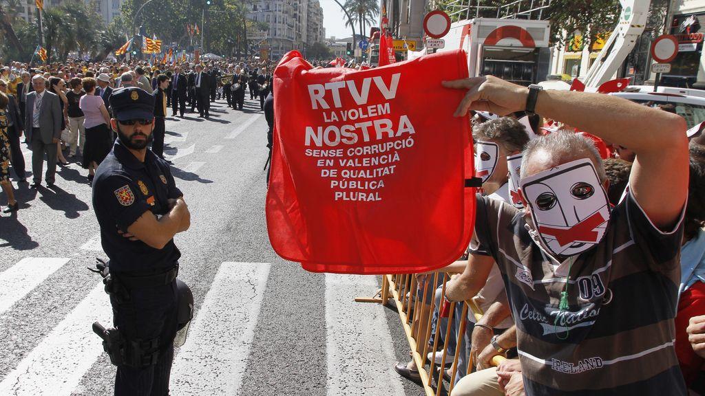 Protestas de los trabajadores de RTVV