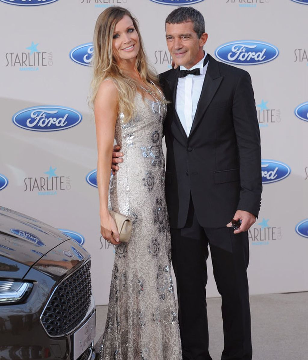 Antonio Banderas y su novia Nicole, fueron los protagonistas de la noche