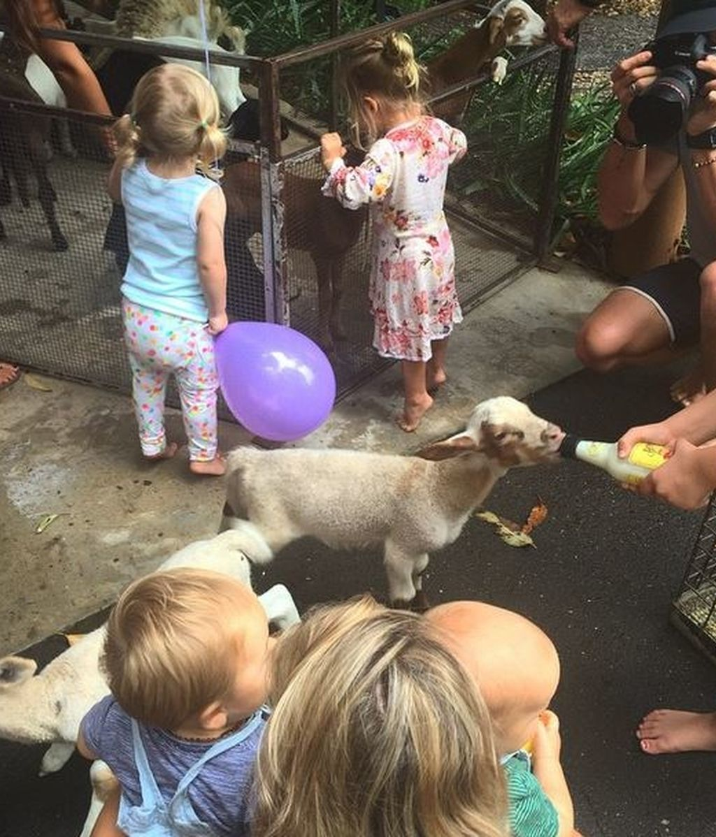 Elsa Pataky y su 'pet zoo' para celebrar el cumple de sus mellizos Tristan y Sasha