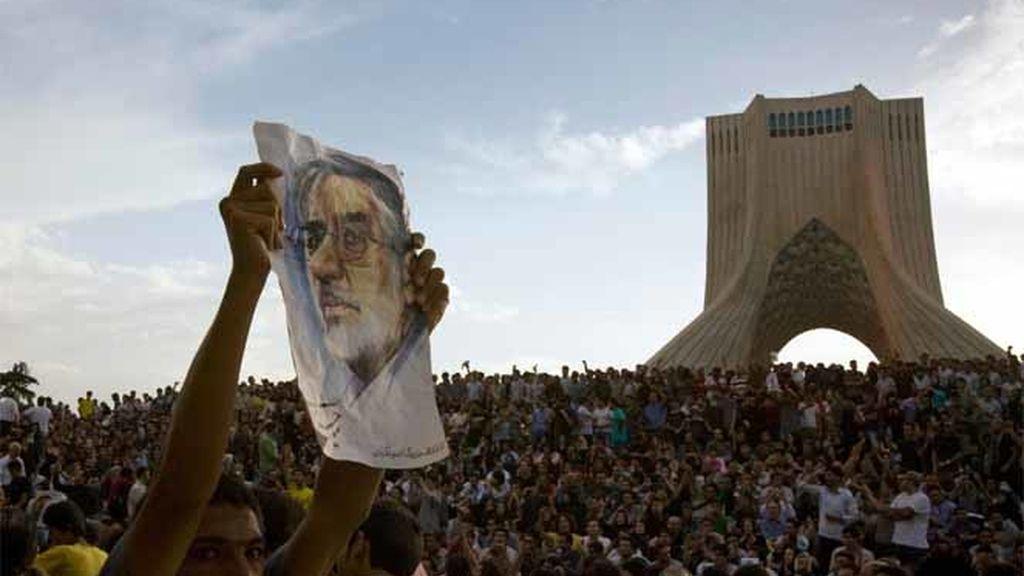 Marea humana en Teherán