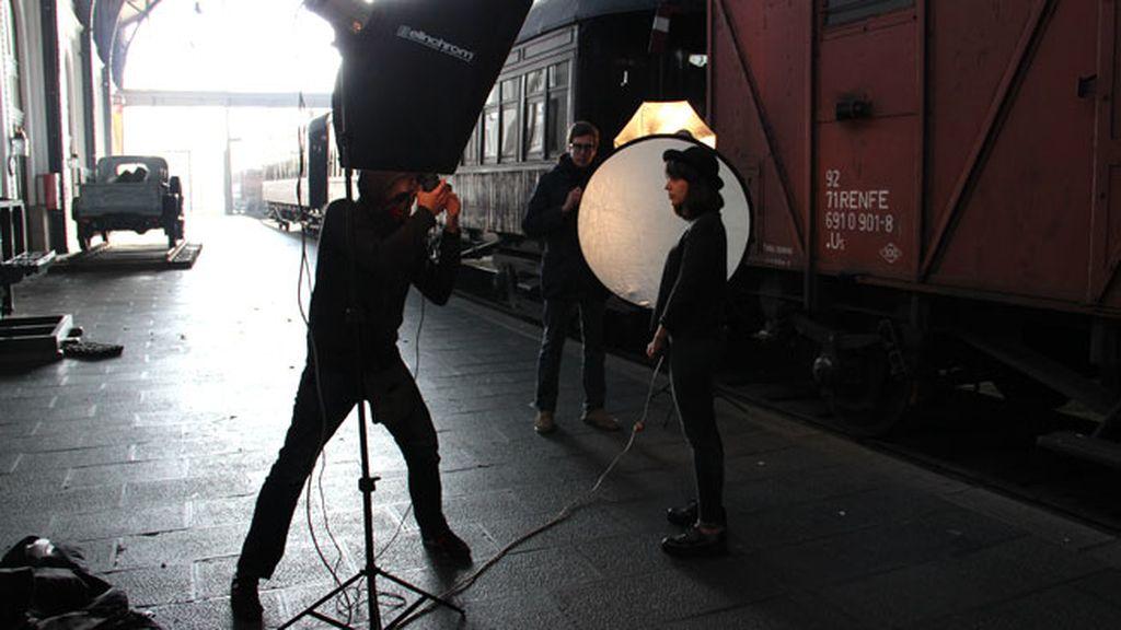 Las fotos del 'making of': trenes, cómics, cámara... ¡acción!