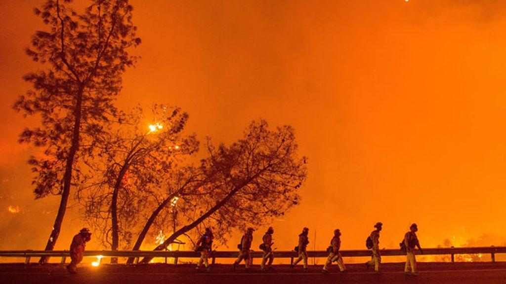 Gran incendio cerca de San Francisco