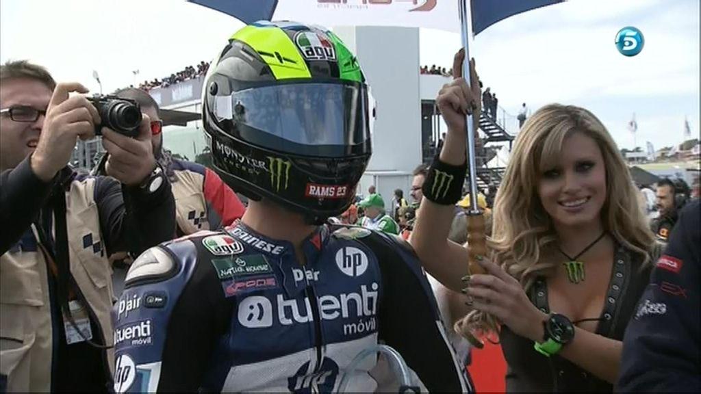 Pol Espargaró, concentrado antes de la carrera de Moto2 en Australia