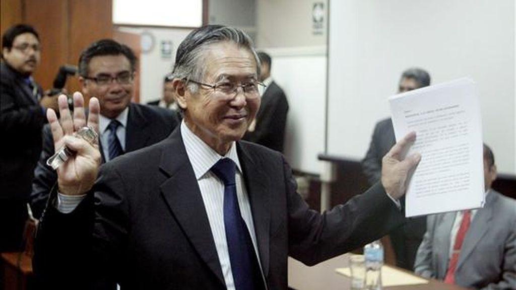Fujimori, que gobernó Perú entre 1990 y 2000, concluyó ayer sus argumentos en el juicio y ese mismo día el presidente de la sala que lo procesa anunció que dictará sentencia el 7 de abril. EFE
