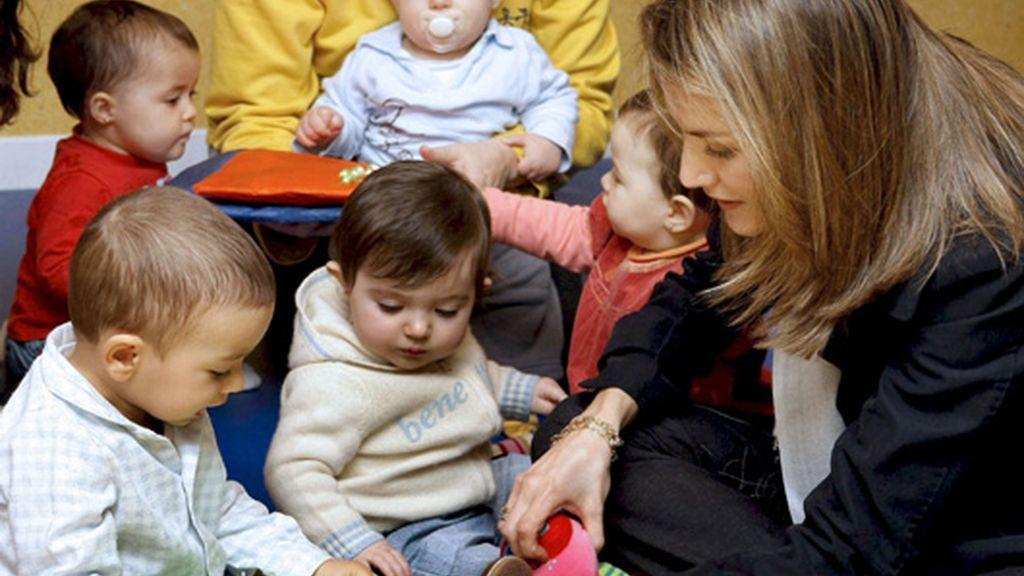 La Princesa de Asturias, con Aldeas Infantiles