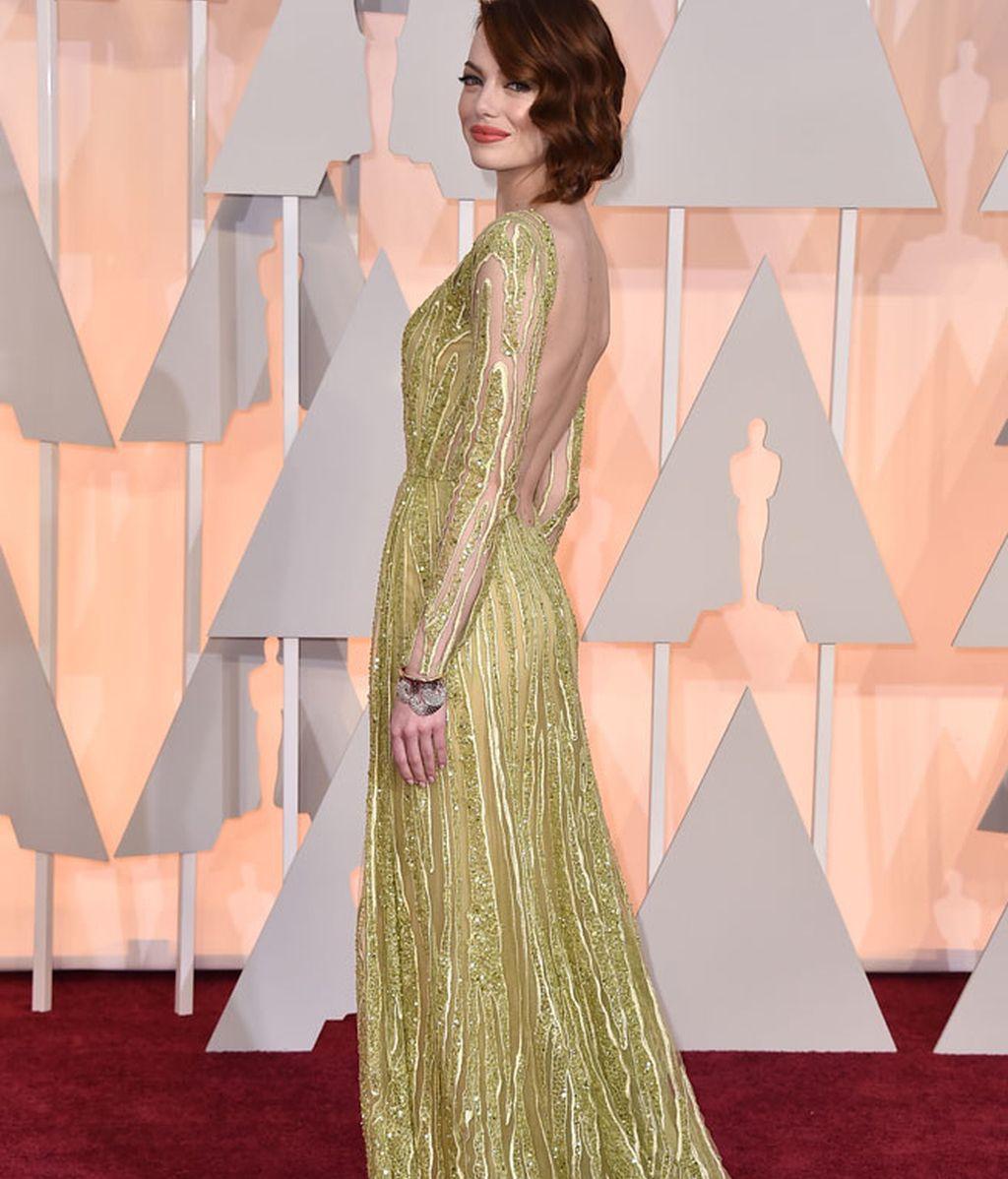 Espalda del vestido de Emma Stone