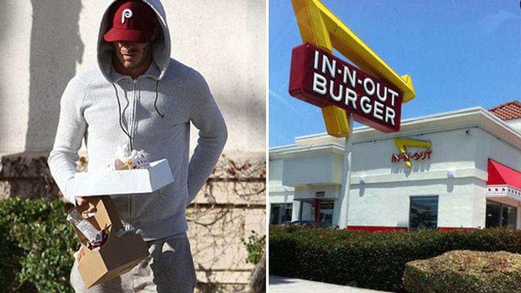 David Beckham, burger