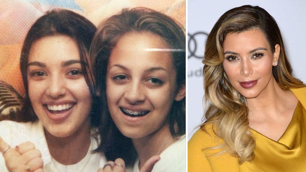 Kim Kardashian y Nicole Richie de adolescentes