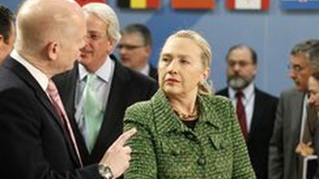 La secretatia de Estado de EEUU, Hillary Clinton.