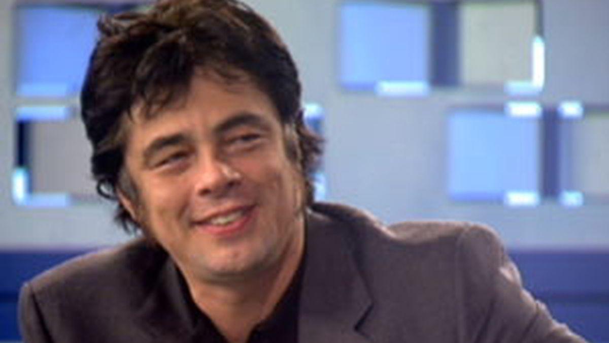 Benicio del Toro, en Informativos Telecinco.