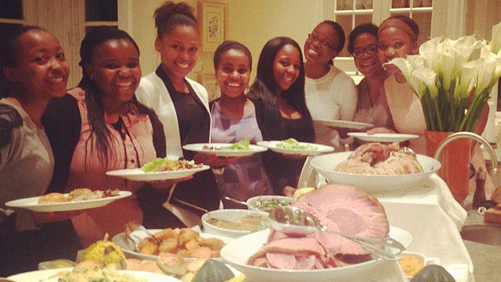 Oprah Winfrey disfrutó de los manjares con su familia