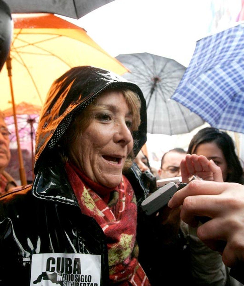 Manifestación contra el régimen cubano en Madrid