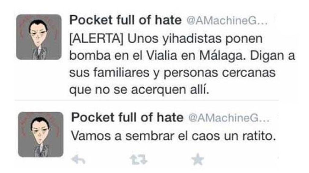 Detenido un menor por alarmar en las redes sociales con un ataque yihadista en Málaga
