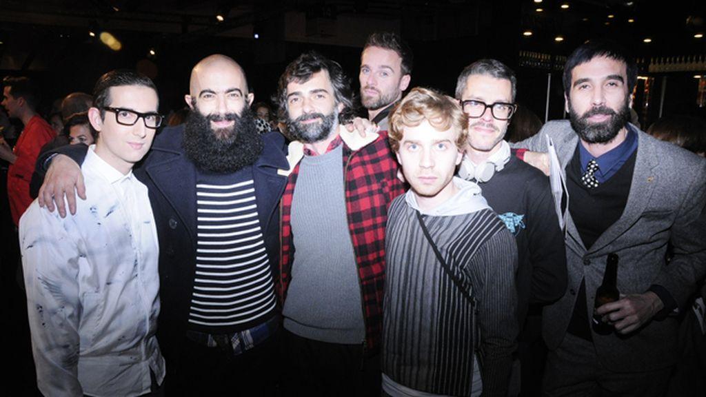 """Con Carlos Díez, Javi Bernal, Rubén Bejarano, Alberto Fernández """"Otto"""", Juanma Cabezón y Jota"""