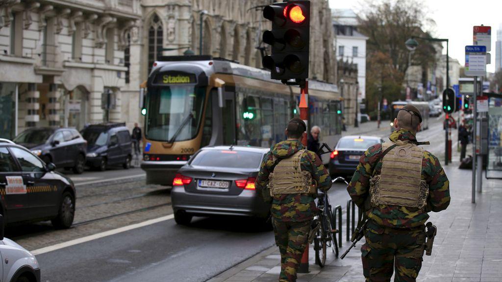 Militares en Bruselas