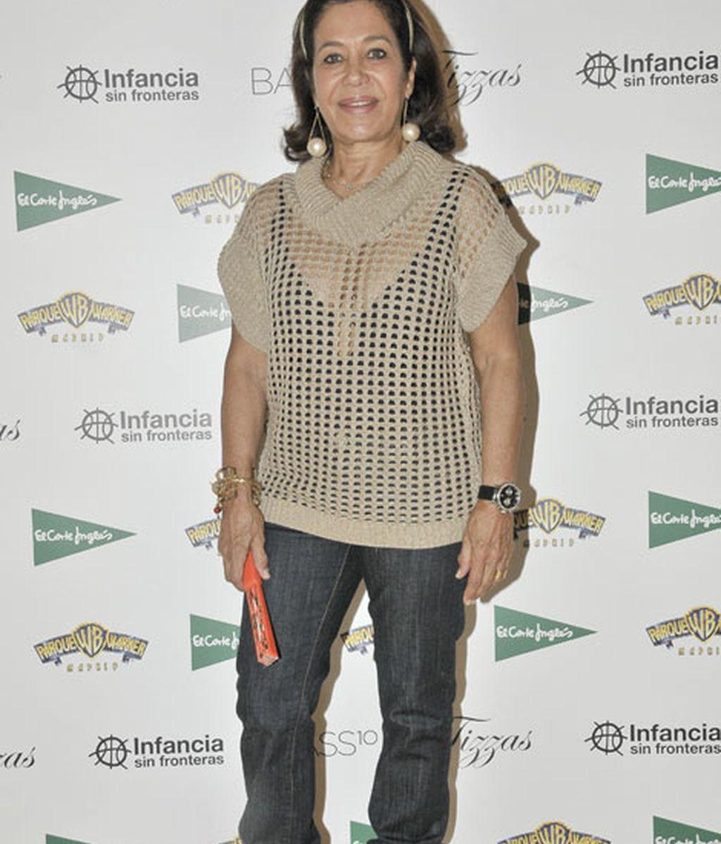 Elena Tablada madre llevó un look muy juvenil